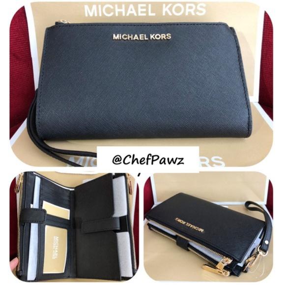 e1ad5b7871c042 Michael Kors Bags | Nwt Jet Set Black Double Zip All In 1 | Poshmark